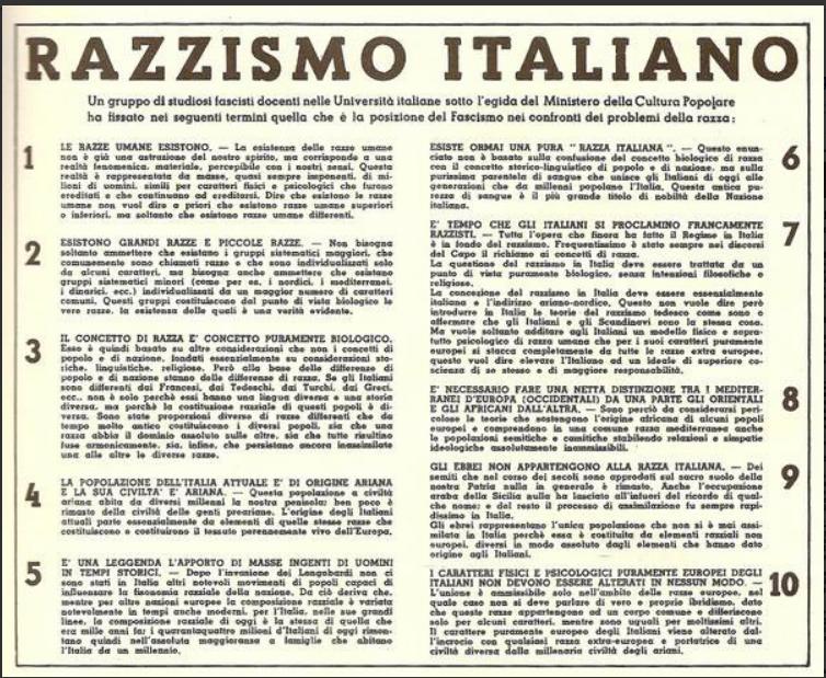 razzismo italiano